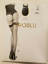 Oroblu Fishnet Thigh Highs  Stay- Ups Black Size S/M