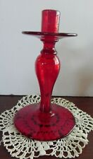 """Vintage Ruby Red Candlestick 7"""""""