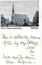 Harrow School, Chapel & Speech Room - London - 1901 Original Postcard (96L)