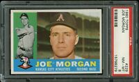1960 Topps BB Card #229 Joe Morgan Kansas City Athletics PSA NM-MT 8 !!!