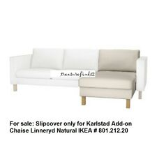 IKEA Karlstad COVER for Karlstad Add-on Chaise - Linneryd Natural Slipcover NEW