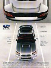 2005 Subaru WRX Impreza -  Original Advertisement Print Art Car Ad J561