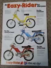 NVt Easy Rider Moped Motorcycle Sales Brochure New Old Stock Good Condition