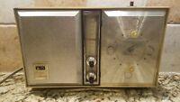 Vintage ARVIN AM CLOCK RADIO ELECTRIC TRANSISTOR Model No. 55R58 Walnut