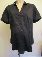 GEORGE MATERNITY BLACK STRETCH BLOUSE SHIRT TOP SIZE 14 BNWT