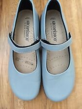 NWOB Arcopedico from Portugal Lt Blue Leather Mary Jane Flats in Size 37 (6.5)