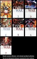 Civil War 1-7 Marvel 2010 Complete Set Run Lot 1-7 VF/NM