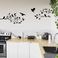 Flying Birds on Tree Branch Wall Art, nursery/kitchen/living room wall sticker