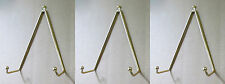 """Set of 3 Brass Plate Hanger, Displays Plates on Wall Size 5"""" to 8"""" in diameter"""