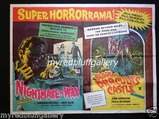 NIGHTMARE IN WAX / BLOOD OF DRACULA'S CASTLE  British Quad