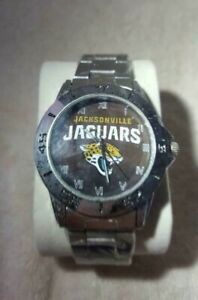 NFL (JACKSONVILLE JAGUARS) NEW CUSTOM CASUAL STAINLESS STEEL WRIST WATCH NEW