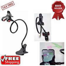 Universal Gooseneck Clip On Cell Phone Holder Mount Car Table Desk Desktop Stand