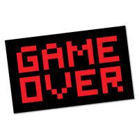GAME OVER LAPTOP Sticker Decal Funny Car Prank Laptop #6666EN