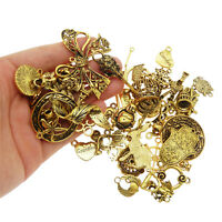 20pcs Vintage Gold Assorted Alloy Random Pendant Charms Jewelry DIY Accessories