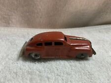 """Vintage Wind Up  Tin Toy Car Red 3.5"""""""