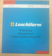 Leuchtturm SF República Federal de Alemania 2014 vordruckblätter/suplementario