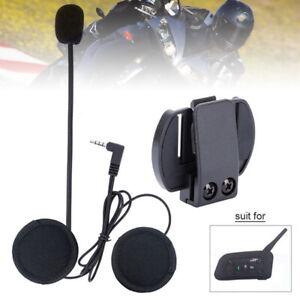 BT 1200M  Wired Headset Mic/Speaker+Clip for V6 Motorcycle Helmet Intercom
