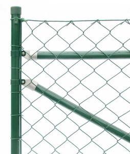 Maschendrahtzaun Premium Qualität komplett set 4eck Gartenzaun Drahtzaun Gitter