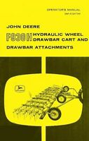 JOHN DEERE F930 Hydraulic Wheel Chart Operators Manual