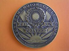 Sunbeam Motor Cycle Club - The Pioneer Run - Participants Medal 1960