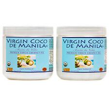 Organic 100% Virgin Coconut Oil ManilaCoco NoBlend CLEAN FRESH ENERGY FUEL 2x16z