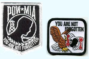 Pow Mia Patch 'You Are Not Forgotten' Patch Blanc Pow États-unis Aigle Patch