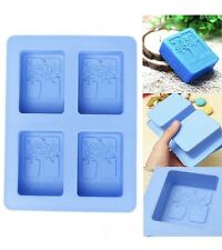 4 Cavity Happiness Tree Silicone DIY Soap Candle Chocolate Pudding Mould