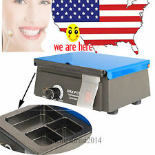 300W Dental Lab Digital 3-Well Analog Wax Pot Heater healting melting 110V 220V