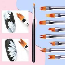 8Pcs/Set Acrylic Nail Art Brush Sable Gel UV Nail Painting Flower Drawing Pens