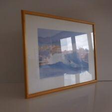 Reproduction lithographie peinture aquarelle P. REPONTY paysage marin France