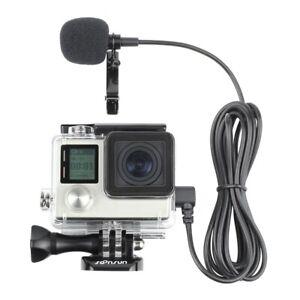 Side Open Skeleton Housing Case + 6.6' External Microphone for GoPro Hero 3 3+ 4