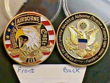 U.S. ARMY~Air Borne~Screaming Eagle~101st.~Challenge coin~Silver Dollar Size & F