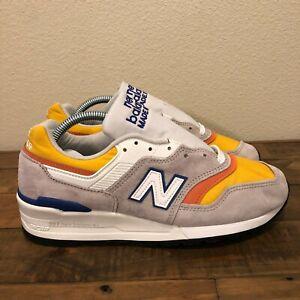 New Balance 997 MADE IN USA Grey/Yellow/Orange/Blue M997PT Men's Size 7