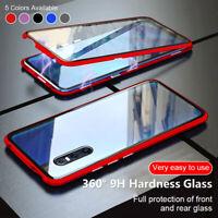360 Magnétique coque Pour Samsung Galaxy A21S A41 A51 A71 A10 étui verre trempé