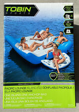 NEW GIANT INFLATABLE PACIFIC LOUNGE 5 PERSON ISLAND LAKE RIVER RAFT BOAT INTEX