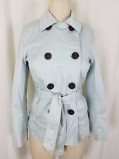 Gap Double Breasted Trench Style Short Peacoat Jacket Womens sz S Blue Military