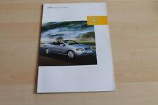 80326) Opel Astra Cabrio Prospekt 01/2002