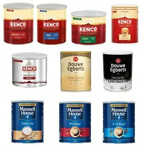 Instant Coffee Tins - Kenco, Douwe Egberts, Maxwell House - Smooth Rich Roast