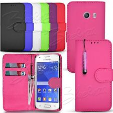 For Samsung Galaxy Ace Style G310 - Wallet Leather Case Flip Cover + Stylus