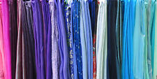 NEW Lot of 50 Ladies Shawls Assorted Colors Fabrics Prints Wholesale Scarf Wrap