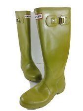 Women's Hunter Rain Boots Rubbers Avocado Green Tall Original Gloss Sz 8 US 7 UK