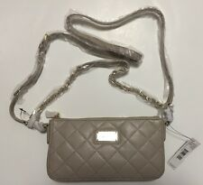DKNY DONNA KARAN CEMENT BEIGE GANSEVOORT QUILTED NAPPA CROSSBODY BAG NWT