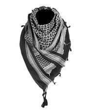 Shemagh negro blanco - Pañuelo Palestino cuello militar ejército árabe casual