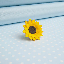 SUNFLOWER Lapel Pin    hand-painted flower jewellery   MADE IN WALES UK
