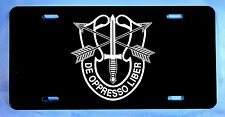 Special Forces De Oppresso Liber, Aluminum License Plate, 6 inch x 12 inch, gift