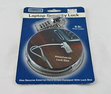 Tech Universe Laptop Security Combo Lock with 6.5 Ft Steel Cable