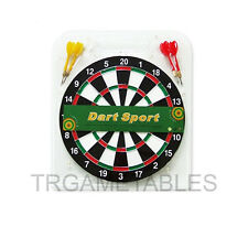 "16"" Dart Board Set - 6pcs Darts & Two Side Printing Dart Board for Game Room AU"