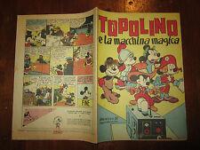 WALT DISNEY ALBO D'ORO  N°58 21-6-1947 TOPOLINO E LA MACCHINA MAGICA