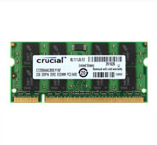 Crucial 2 GB 2RX8 PC2-6400S DDR2 800MHz 200pin SODIMM RAM Laptop Memory Intel 2G
