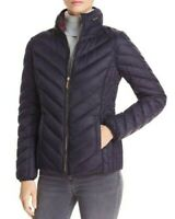NWT $260 Michael Kors Packable Down Women's Puffer Jacket Navy Size S